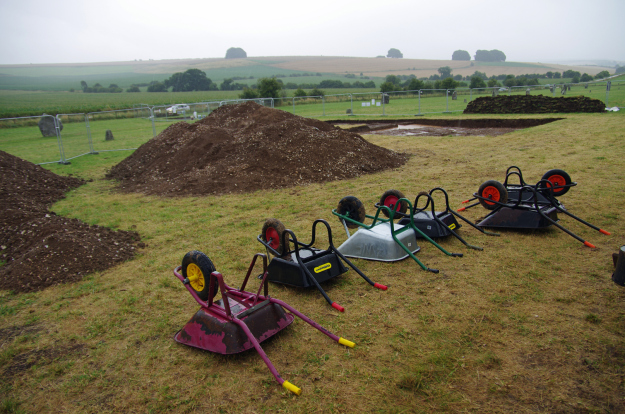 Our very own barrow cemetery, as rain stopped play for the day