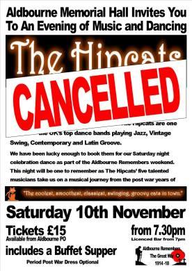 WW1 Dance cancelled